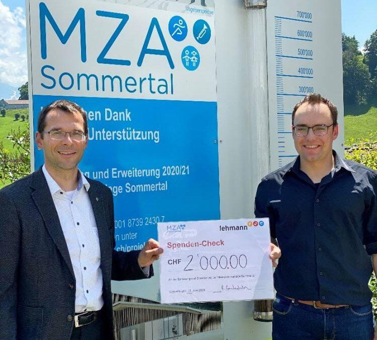 Unterstützung für die Mehrzweckanlage Sommertal in Schwellbrunn