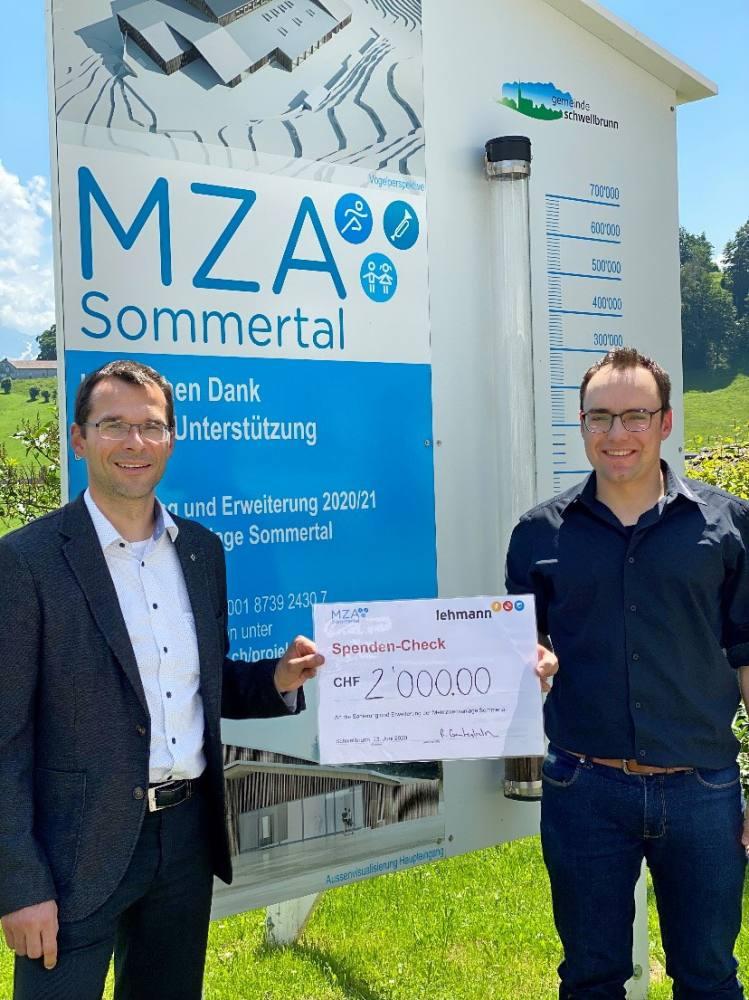 Spende für die Sanierung der MZA Sommertal