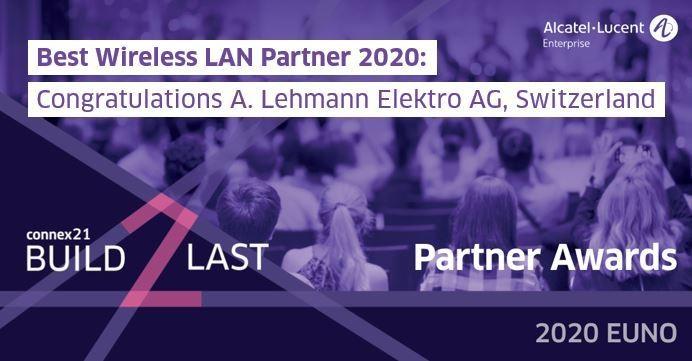 Auszeichnung zum «Best Wireless LAN Partner 2020»